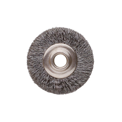 "3/4"" UNMTD BRUSH, STEEL, CRIMPED- 1/8"" hole PK/12"