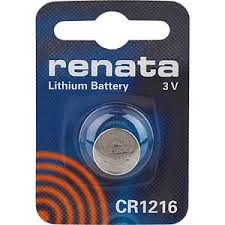 Renata 1216 Battery. Pack of 10