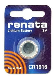 Renata 1616 Battery. Pack of 10