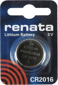Renata 2016 Battery. Pack of 10