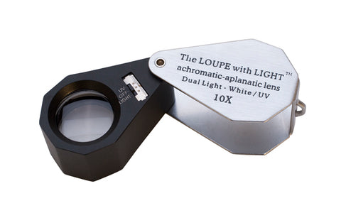 LED/UV LIGHTED LOUPE- 10 X, 21MM