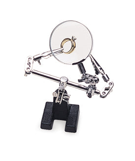 Double Third Hand with Clips and Magnifying Glass