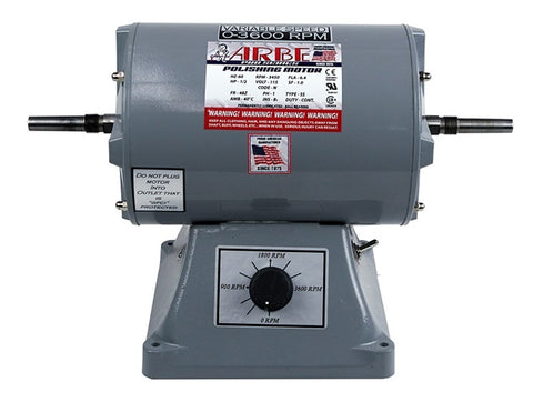 Arbe 1/2HP Variable Speed Double Spindle Pro-Series Polishing Motor