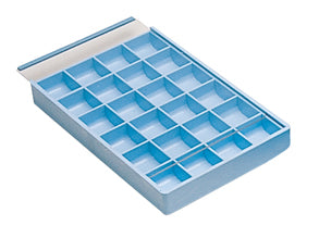 24 COMPARTMENT PLASTIC TRAY