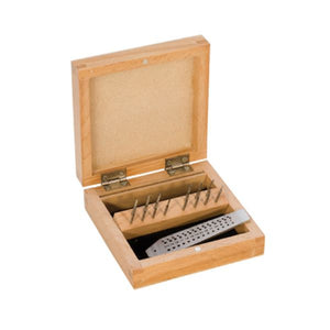 14 PC. TAP SET IN WOOD BOX- .70MM-2.0MM