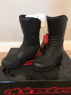 Alpinestars Web Gore-Tex Black Motorcycle Boots - Size 7.5 EUR 41