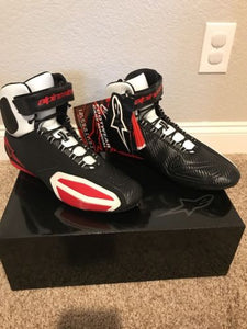 Alpinestars Faster Shoes, Black/White/Red Size 13 US/ 47 Euro