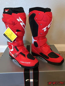 TCX Comp EVO Michelin Motorcycle/Motocross Boots Red/White *various sizes