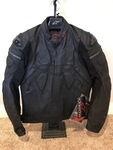 Alpinestars Core Airflow Leather Motorcycle Jacket Black *various sizes