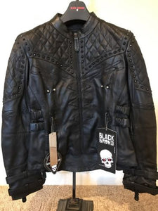 Black Brand Women's Brazilian Waxed Black Leather Motorcycle Jacket *various sizes