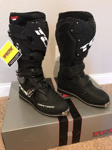 TCX Comp EVO Black Offroad Motorcycle Boots Size 12 US/46 Euro