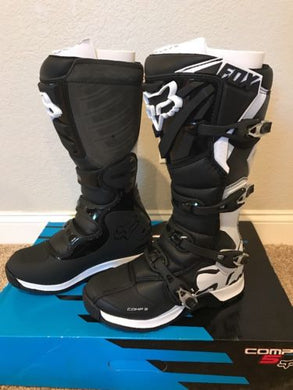 Fox Racing Comp 5 Women's Boots Black/White Size 11