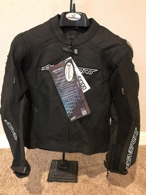 AGV Sport Misano Perforated Leather Jacket Black Size 42 US / 52 EU / Small