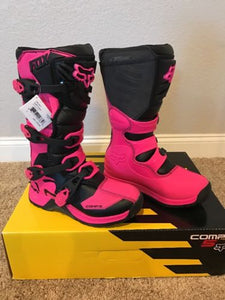Fox Racing Youth Comp 5 Boots Black/Pink 7 US