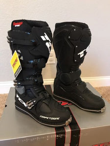 TCX Comp EVO Black Offroad Motorcycle Boots Size 10 US/44 Euro