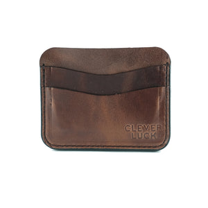 Slim Wallet - Rustic Oak
