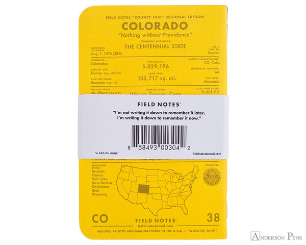 County Fair Notebook (Colorado) - 3 pack