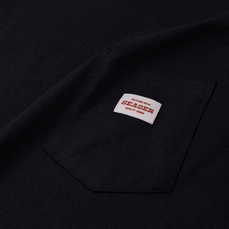Woody's L/S Work Tee - Black