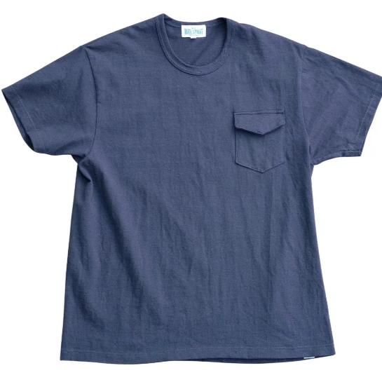 Loopwheel Pocket Tee - Navy Blue