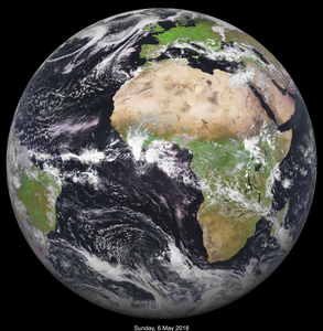 Earth from Space Photographed on Custom Day FREE Poster
