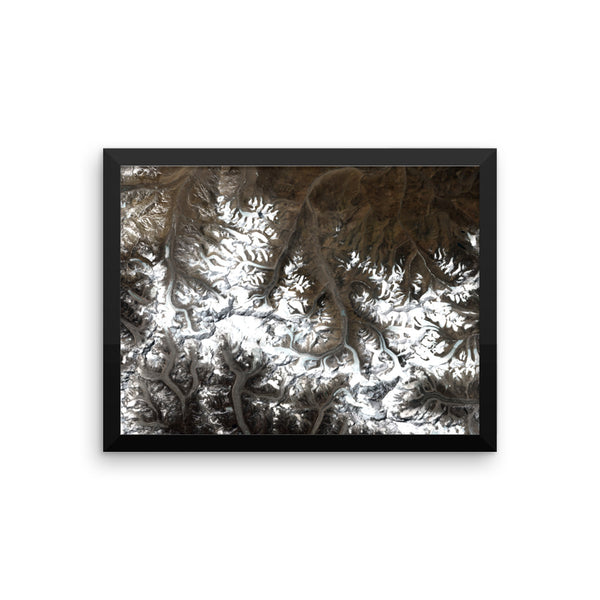 Everest Satellite Image Framed poster