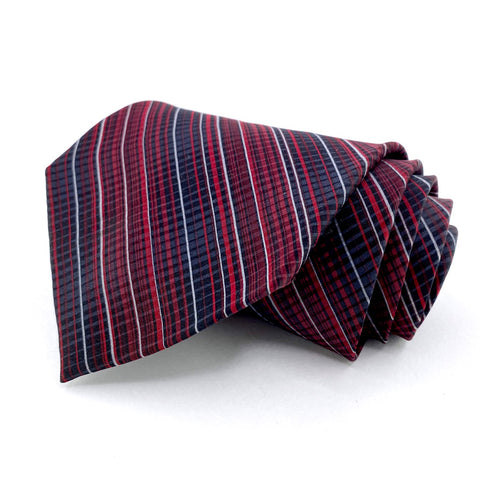 Dockers Tie Black Silk Striped Pattern