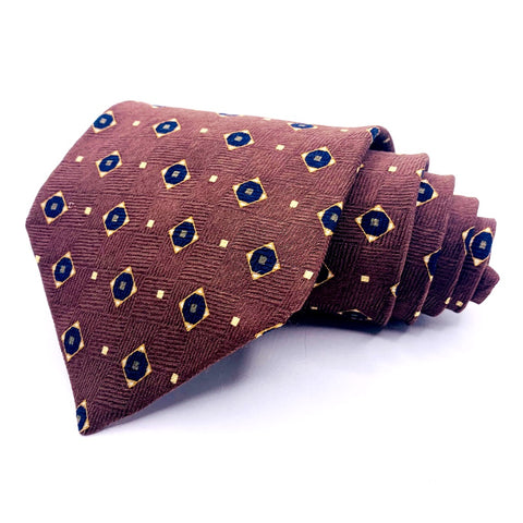 NEO Bill Blass Tie Geometric Pattern