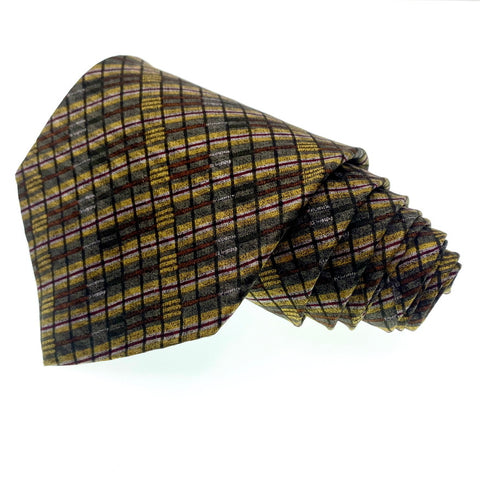 Structure Tie Multi-Color Silk Geometric Pattern