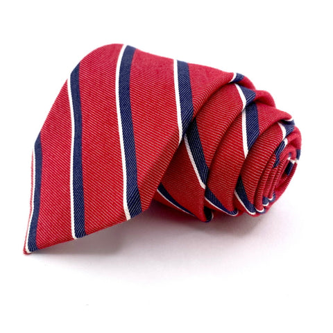J.S. Blank & Co. Tie Red Regimental Stripe
