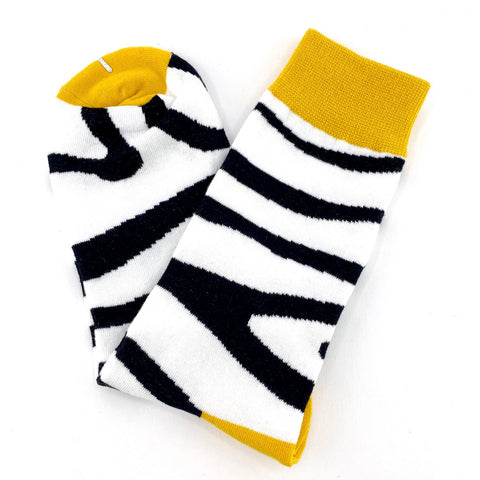 Socks Zebra Stripes By The Man Who Has It All