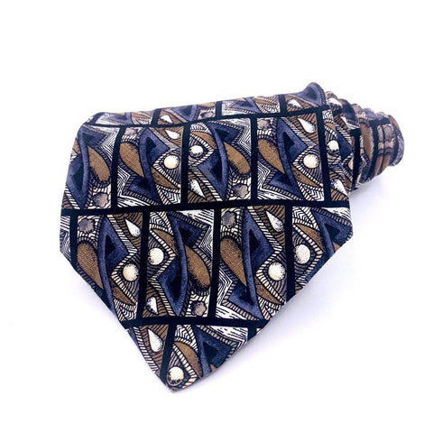 Galleria & Co Tie Multi-Color Geometric Pattern