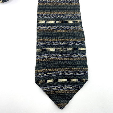 Haggar Tie Multi-Color Silk Abstract Pattern