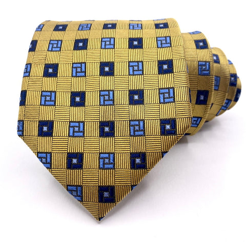 Jos A Bank Tie Executive Collection Silk Gold