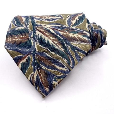 Alfani Tie Silk Multi-Color Tropical Pattern Ties Alfani