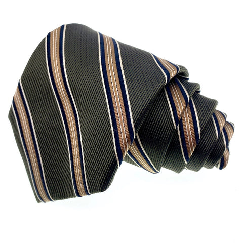 Jos A Bank Tie Men's Brown Striped Pattern