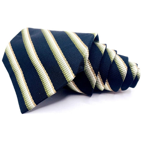Alfani Tie Silk Blue Striped Pattern Ties Alfani