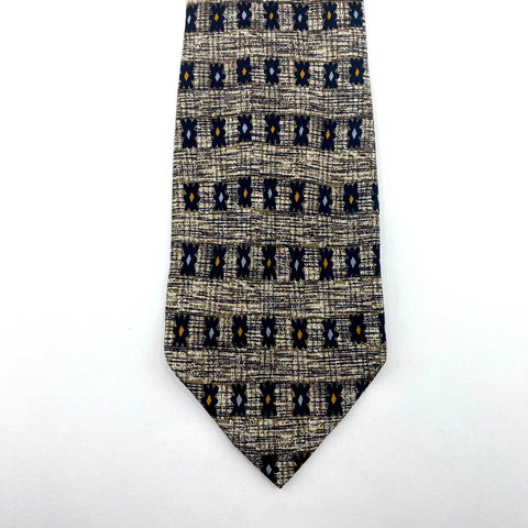 Alicione Tie Silk Multi-Color Geometric Pattern