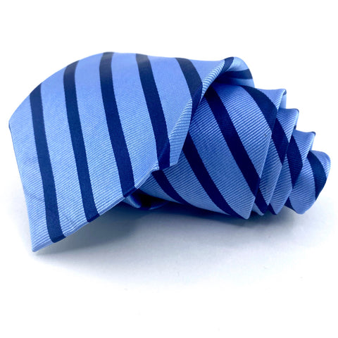 US Polo Association Tie Blue Striped Pattern