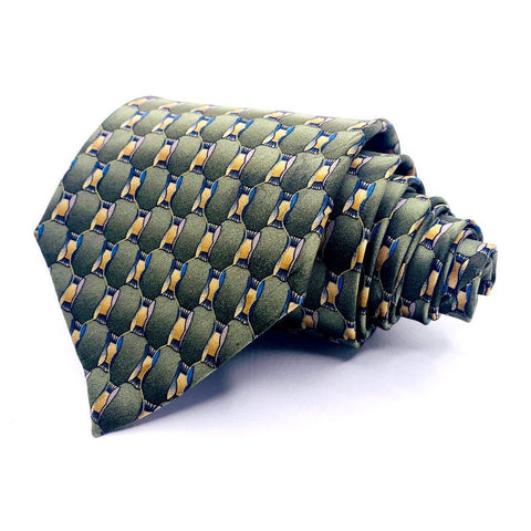 Cocktail Colors Tie Geometric Pattern