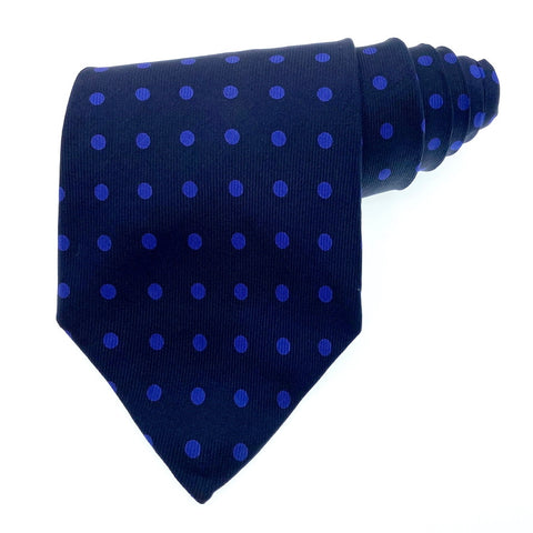 Nautica Tie Silk Blue Polka Dot Pattern