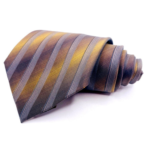 Martin Wong Tie Silk Gold Striped Pattern