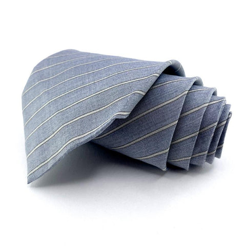 Alfani Tie Silk Grey Striped Pattern Ties Alfani