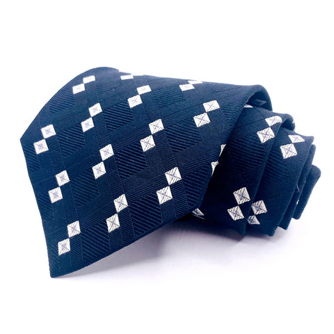 Peter Thomas Tie Silk Black Geometric Pattern