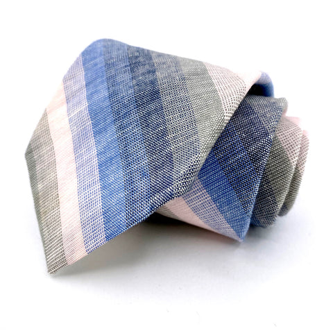 Mallory & Church Tie Multi-Color Striped Pattern