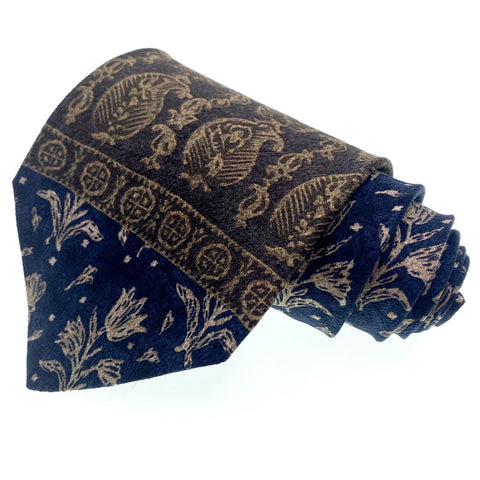 Structure Tie Abstract Pattern Blue All Silk