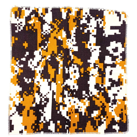Pocket Square Orange Brown Camo Pattern 11""