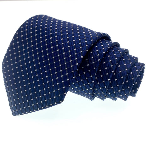 Knot Around Your Neck Tie Blue Dot Pattern