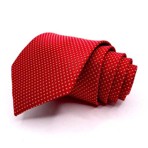 Knot Around Your Neck Tie Red Dot Pattern