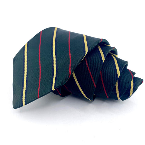 Stonehenge Tie Green Silk Striped Pattern