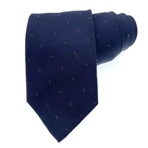 Altea Milano Tie Silk Blue Dots Pattern